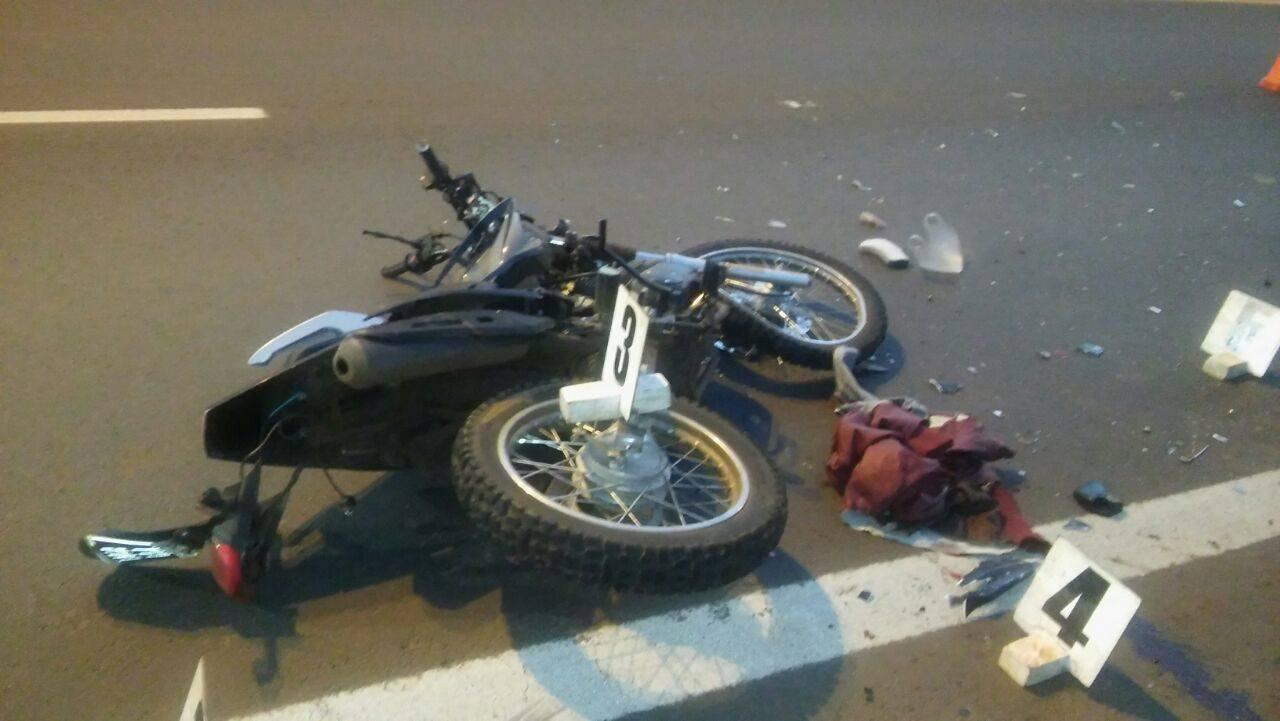 Accidente de moto-acceso sur