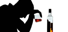 Silhouette of an alcoholic