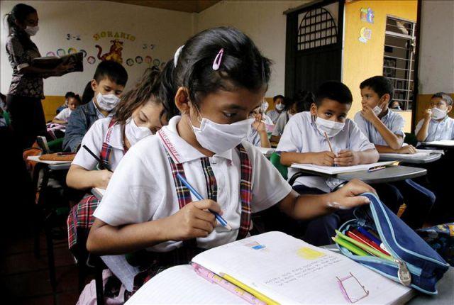 gripe A- escuelas