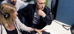 Macri-Visita Call Center Anses