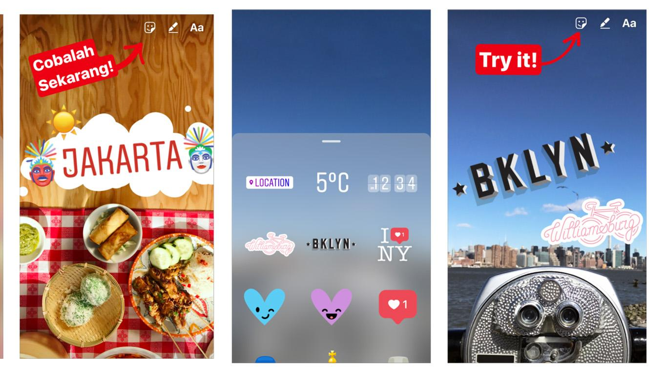 Instagram-Lugares Stickers