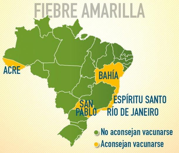 Fiebre amarilla-mapa