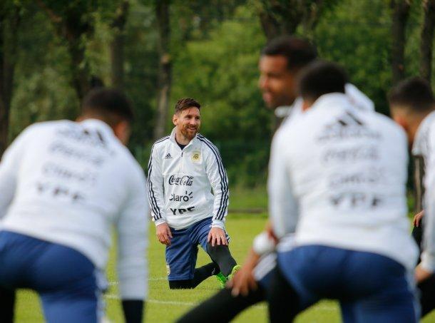 Messi-entrenamiento-Rusia 2018