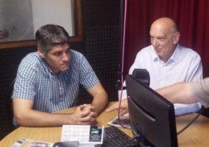 L. Pastori junto a Ricardo Andersen