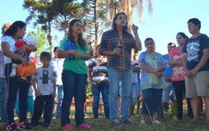 Nidia Pintos con el diputado Martin Sereno