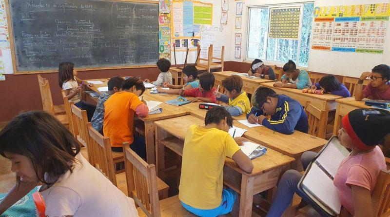 Escuela de la comunidad Ysyry de Colonia Delicia