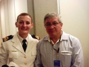 Teniente Fragata Eliana Krawczsyk - Roberto Domingo