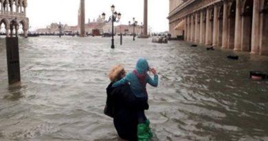 El 80 por ciento de Venecia está bajo el agua