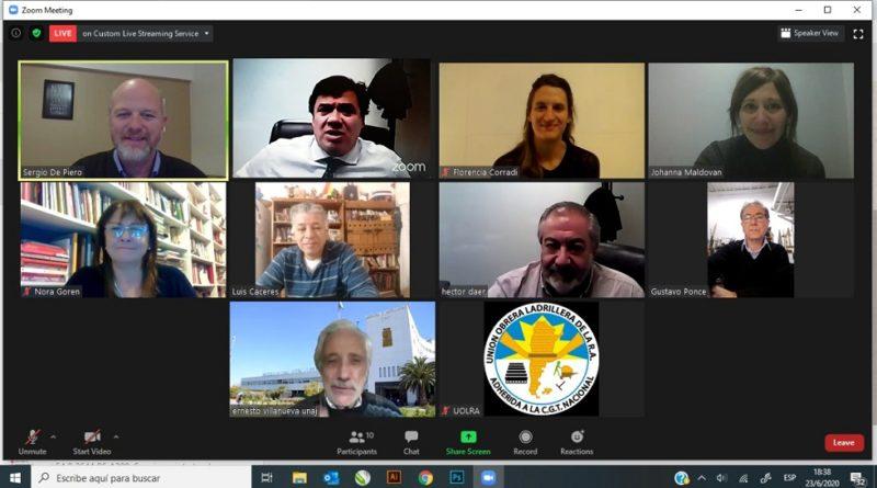 Ministerio de Trabajo - CGT - UOLRA - Video conferencia