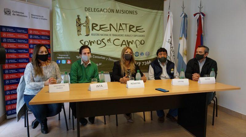 El Renatre- Ministerio de Trabajo-INTA-UATRE e INYM capacitaran a trabajadores tareferos en seis municipios de la provincia