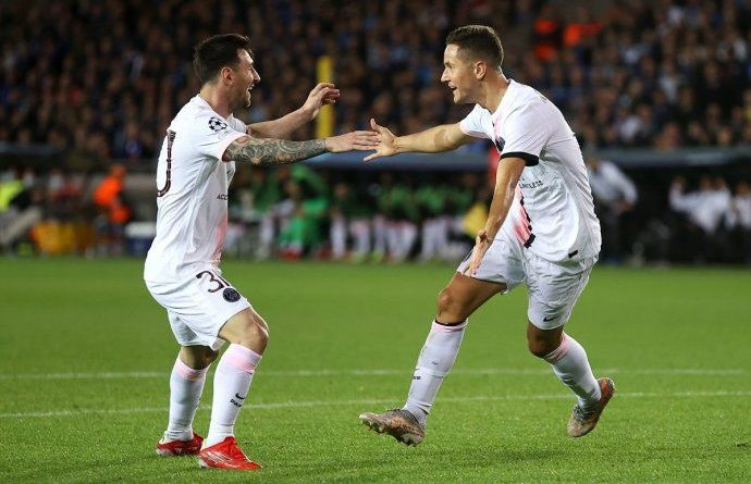 PSG empató con Brujas por la Champions League