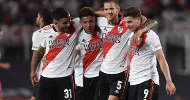 River goleó a Argentinos y le saca nueve puntos a Talleres